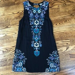 Urban Outfitters floral shift dress with open back